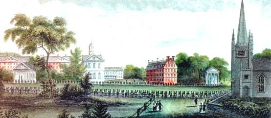 1836 Procession from the Meeting House celebrating the Harvard Bicentennial.