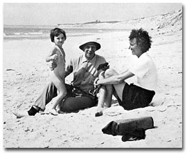 Daughter Helen, Roger, and Evelyn at Windy Gates, Martha's Vineyard, 1941. (Courtesy of Peggy Lamson)