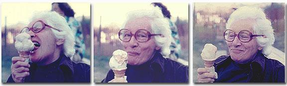 Reynolds enjoying ice cream