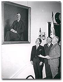Saltonstall admires portrait