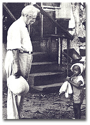 Schweitzer with a child