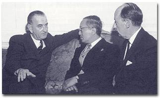LBJ, U Thant, and Stevenson