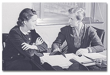 Ware with research assistant