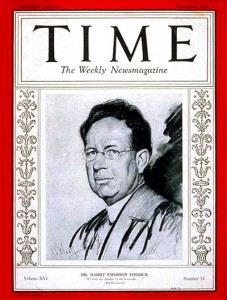 Harry Emerson Fosdick on the cover of Time Magazine