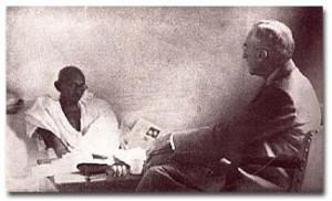 Holmes with Gandhi
