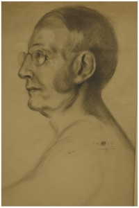 Charles W. Eliot as drawn by Kahlil Gibran in 1910