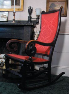 Emerson's rocking chair was a favorite place for contemplation. Courtesy of the Emerson House in Concord.