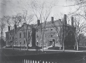 Emerson lived at 10 Divinity Hall at Harvard. Courtesy of the Harvard University Archives.
