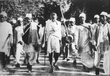 Gandhi on the march