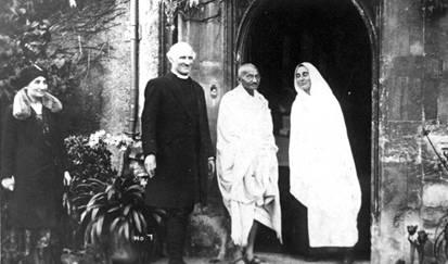 "Gandhi with Madeline ""Mirabai"" Slade"