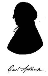 Sillouette of East Apthorp, first rector of Christ Church  c. 1761.
