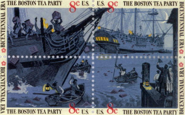 Boston Tea Party bicentennial commemorative postage stamp Learn more about the First Independent Thanksgiving.
