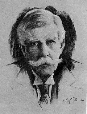 Justice Oliver Wendell Holmes Jr. Etching by Sally Tate