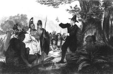 John Eliot preaching to the Indians