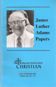 Unitarian Universalist Christian Table of Contents