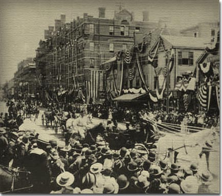 On June 3, 1896, Cambridge celebrated its 50th birthday with a mammoth parade.