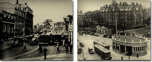 Harvard Square in the 1920's (Cambridge Historical Society)