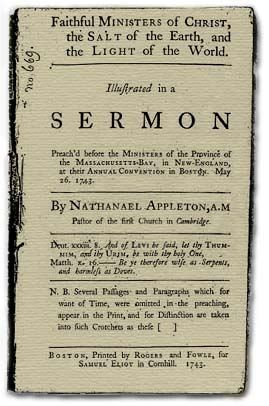 From the First Church in Cambridge Archives.