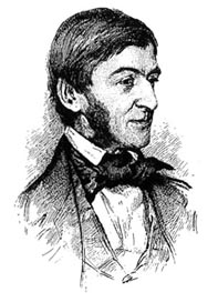 Portrait of Ralph Waldo Emerson in 1857 By Henry Rowe.