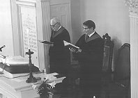 Ralph Helverson and Dan Huntington Fenn in the pulpit