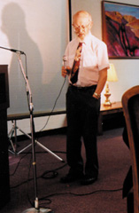Charles Hartshorne Lecturing in 1991