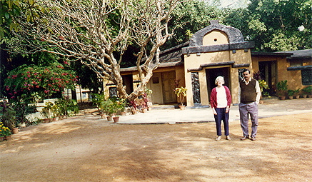 The tiny house where Mahatma Gandhi lived when in Santinikan