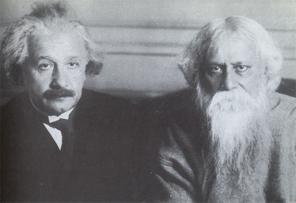 Albert Einstein and Rabindranath Tagore in New York, 1930