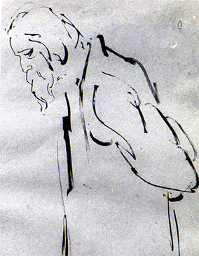 Elderly Rabindranath (Satyajit Ray)