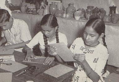 Handicrafts class at Sriniketan