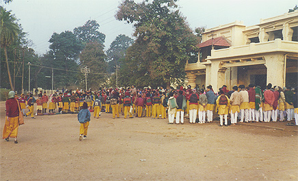 Vaitalik, the morning assembly at Visva Bharat in Santiniketan