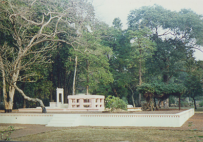 'Chhatimtala', seat of meditation of Mahavshi Devendranath Tagore, father of the poet