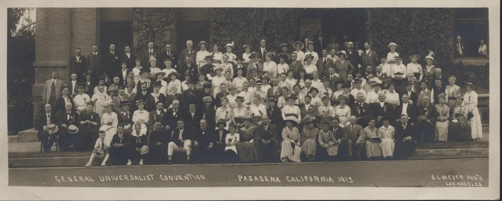 Group Photo of the General Universalist Convention Pasadena, CA, 1915. Courtesy of the Andover-Harvard Theological Library.
