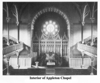 Interior of Appleton Chapel