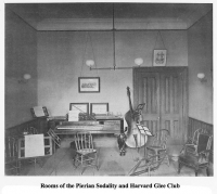 Rooms of the Pierian Sodality and Harvard Glee Club